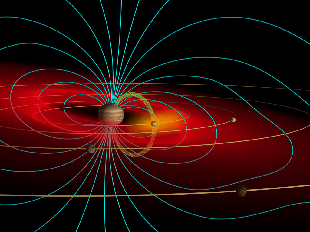 Magnetfeld Der Erde Wallpaper Abbildung 1 Innerhalb Der